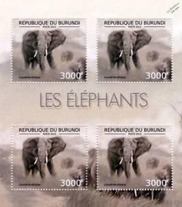 AFRICAN-ELEPHANT-Africa-Wild-Animal-Stamp-Sheet-5-of-7-2012-Burundi