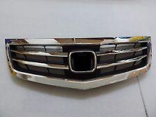 DHL - New Front Upper Bumper Hood Grille For Honda Acura TSX 2012-2014 - Chrome