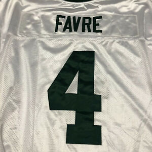 Reebok-Green-Bay-Packers-Brett-Favre-4-Jersey-NFL-stitched-white-Size-52