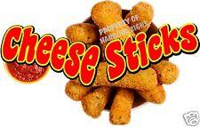 "Concession Cheese Sticks Decal 14"" Mozzarella Food Truck Vinyl Menu Sticker"