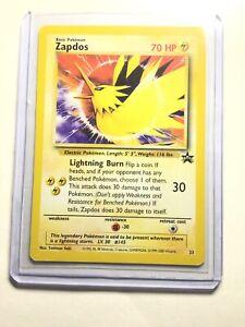 Tarjeta-casi-como-nuevo-Pokemon-Zapdos-Negro-Star-Promo-Set-23-legendario-Lightning-Pajaro-Pelicula