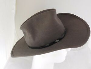 ac1bddac Details about Vintage Bailey Laramie, TX 100% Wool Gray Western Hat Size 7