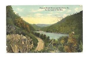 ASHEVILLE-NC-Flag-Cancel-French-Broad-River-Southern-RR