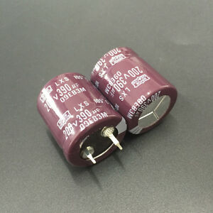 5pcs-390uF-200V-Japan-NCC-Nippon-LXS-22x25mm-200V390uF-Snap-in-Capacitor