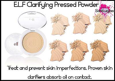 E.L.F ELF Flawless Clarifying Pressed Powder Oil Shine Control Salicylic Acid 1%