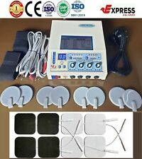 Electrotherapy 4 Channel Stress Relief Unit Delta 03 Carbon Amp Sticky Pads Combo