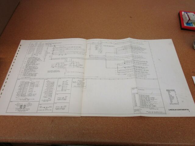 Original 1977 Lincoln Continental Wiring Diagram Schematic