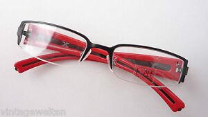 Sonnenbrillen Beauty & Gesundheit Temperamentvoll Brille Teilrandlos Metallfassung Breite Plastik-bügel Schwarz-rot Neu Grösse M Noch Nicht VulgäR
