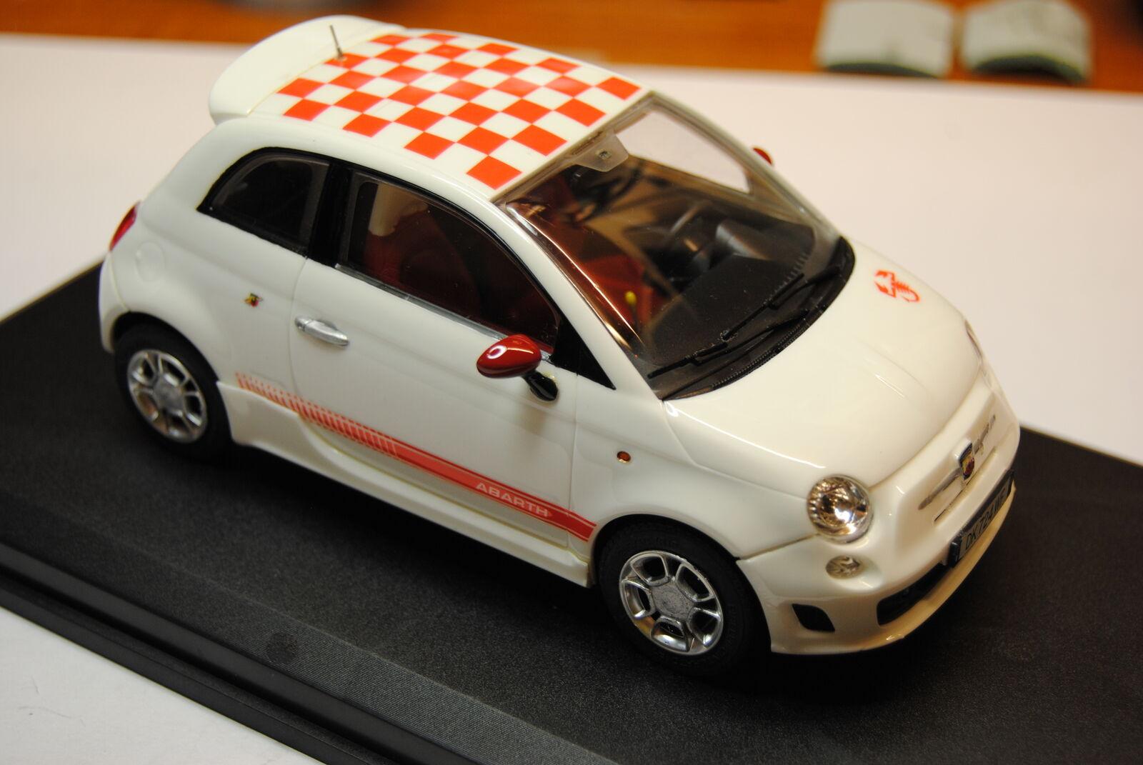 Fiat 500 abarth scala 1 24 - Fujimi built - (NO Tamiya - Hasegawa Revell)