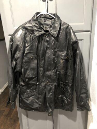 Jasming Men's Leather Jacket Made In Korea Size XL