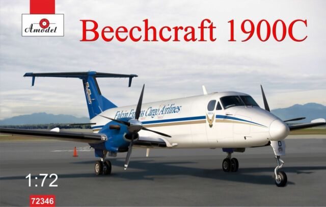 1:72 Amodel Beechcraft 1900C only plastic with photo-etched. Without box, decal