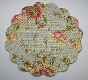 April Cornell Music Sage Quilted Cotton 17 Quot Round Placemat