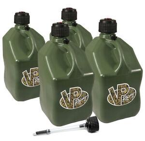 4 Pack Vp Racing Camo 5 Gallon Square Fuel Jug Extra Cap