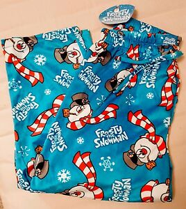 f86af60d4a69 New Mens M Medium Frosty The Snowman Fleece Christmas Lounge Sleep ...