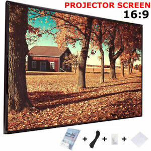 120-034-16-9-Projector-Projection-Screen-Film-White-Matte-3D-HD-Home-Cinema-Theater