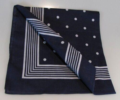 Foulard gros points bleu vierecktuch 70x70cm bandana Nikki maritimestuch