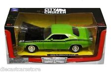 NEW RAY CITY CRUIZER  1970 PLYMOUTH CUDA GREEN 1/24 DIECAST CAR SS-71875GRN