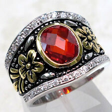 SPECIAL SALE BIN $19.99 LUXURIOUS 3 CT GARNET 925 STERLING SILVER RING SIZE 9