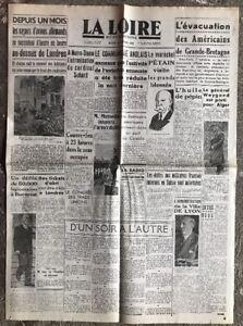 N33-La-Une-Du-Journal-La-Loire-8-Octobre-1940