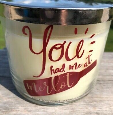 BATH & BODY WORKS BLACK CHERRY MERLOT SCENTED CANDLE 3 ...