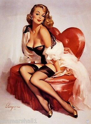 1940s Pin-Up Girl You Have My Heart Picture Poster Print Art Pin Up