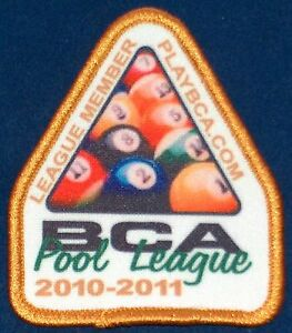 2010 11 BCA 8 BALL POOL LEAGUE PLAYER MEMBER PATCH NEW Free