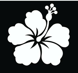 Hawaiian-Hibiscus-Flower-Vinyl-Car-Decal-Decals-Sticker-Window-Wall-Truck
