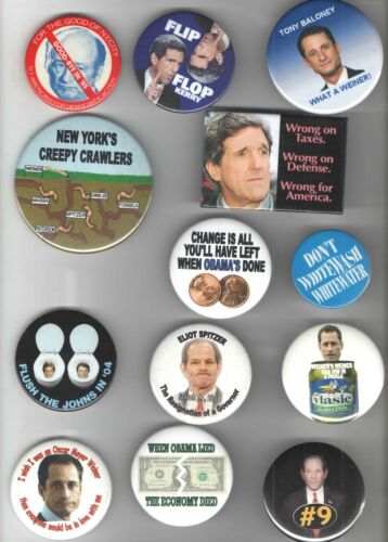17 Satirical Old pin ANTI DEMOCRATIC pinback button