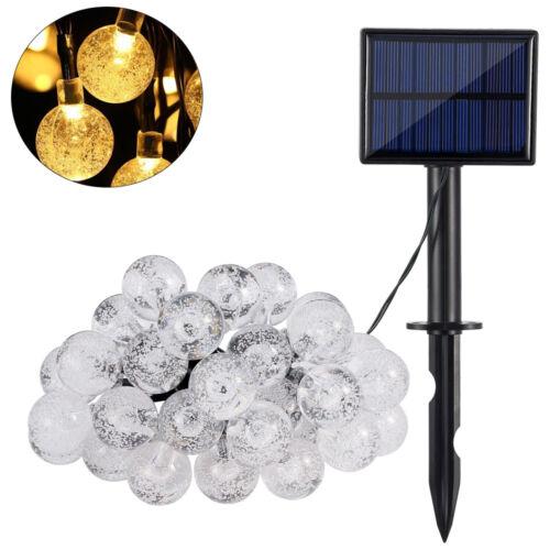 5m 30 LED Solar Lichterkette Außen Beleuchtung Garten Weihnachten Dekor Warmweiß