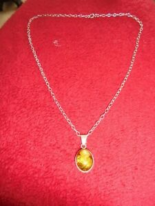 925-SILVER-CHAIN-WITH-BALTIC-AMBER-PENDANT