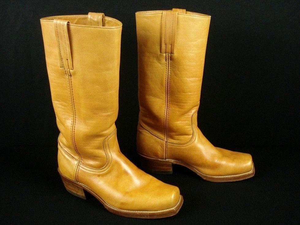 Vintage Frye Frye Frye Boho Campus botas De Montar Mujer 8 D 10 doble suela de cuero  producto de calidad