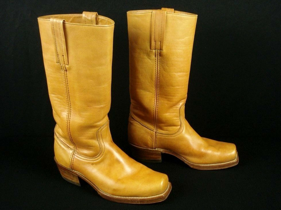 Vintage FRYE Boho Campus Riding Boots Boots Boots 8 D Women's 10 Double Leather Sole d6369f