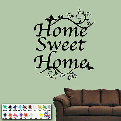 Home Sweet Home wall quote sticker vinyl wall decals mural art living room decor