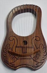 Humoristique Lyre Harpe Gravé Harpe Irlandaise Design/lyra Harp Palissandre Bois/harfe/arpa/harpe-a/harpe Fr-fr Afficher Le Titre D'origine