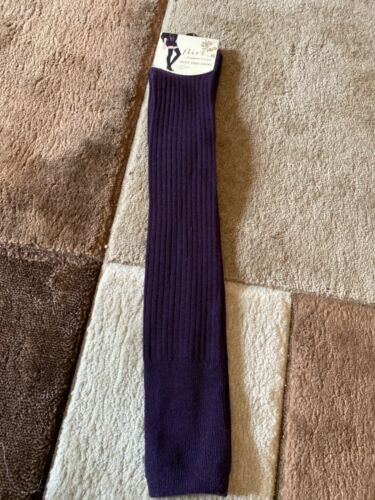 New size 4-7 FLIRT Ladies Ribbed Over Knee Socks Purple
