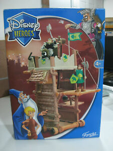 VERY-RARE-2004-DISNEY-HEROES-SIEGE-TOWER-CATAPULT-THE-SWORD-IN-THE-STONE-NEW