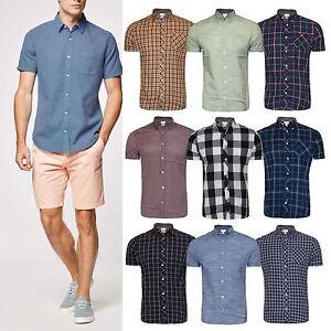 4955942e527 Men s hightstreet Check Shirt Short Sleeve Shirt Casual Check ...