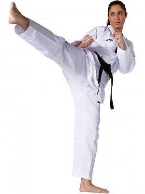 120-210cm Gr weiß mit weißem Revers von Kwon Taekwondo, TKD-Anzug Victory
