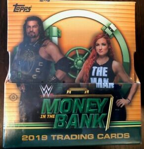3 AUTOS GUARANTEED BOX 2019 TOPPS WWE MONEY IN THE BANK WRESTLING HOBBY BOX