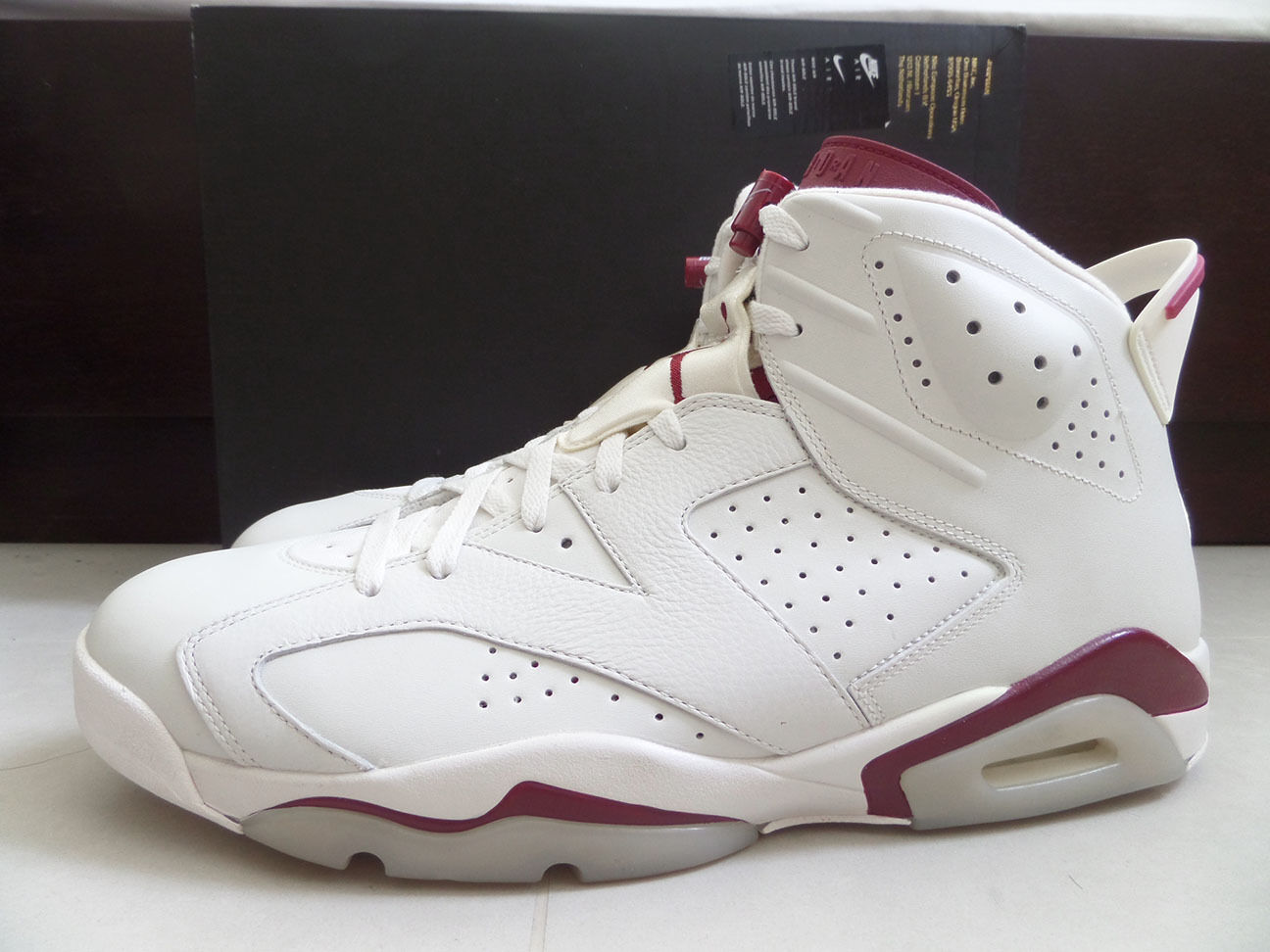 100% Auth Nike Men's Air Jordan 6 VI Retro Maroon sz 12 [384664-116] B-Grade