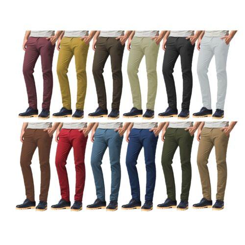 Pantalon Chino Ajustado Para Hombre De Algodon Elastico Pantalon Pantalones Skinny Jeans Todos Los Tamanos De La Cintura Control Ar Com Ar