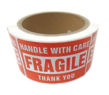 New Listing500 Labels 2x3 Handle With Care Fragile Shipping 1 Roll