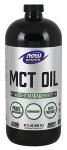 Now Foods MCT Coconut Oil - 32 fl oz Keto Coffee BUILD MUSCLE, BURN FAT