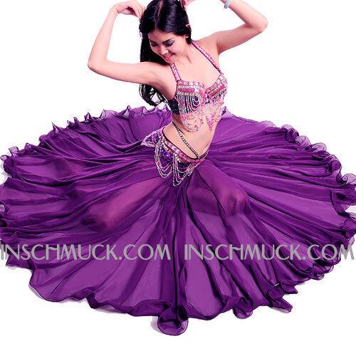 A0092 3 pz. Sexy Donna Costume Danza Ventre REGGISENO Cintura Gonna con 720