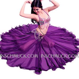 A009-2-3-pz-Sexy-Donna-Costume-Danza-Ventre-REGGISENO-Cintura-Gonna-con-720