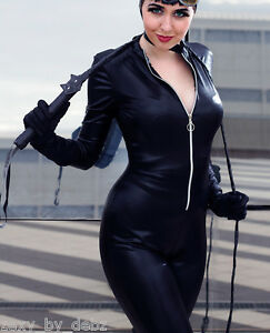 Catsuit-Costume-Faux-Leather-Faux-PVC-Cosplay-zip-up-29-034-leg-size-8-12-Quality