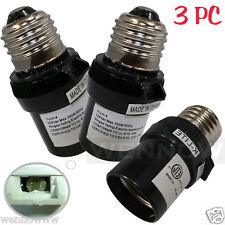3 Pcs Black Dusk To Dawn Photocell Light Control Auto Sensor Light Socket