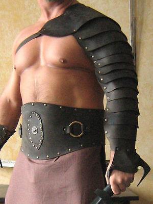 Medieval Gladiator Single Leather Arm Armor