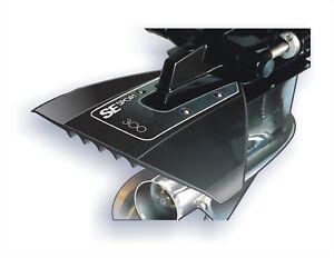 SE-SPORT-300-Hydrofoil-in-schwarz-fuer-Aussenborder-und-Z-Antriebe-Stabilisator