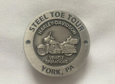 NEW Harley Davidson 2012 Factory Steel Toe Tour Pin Button York PA